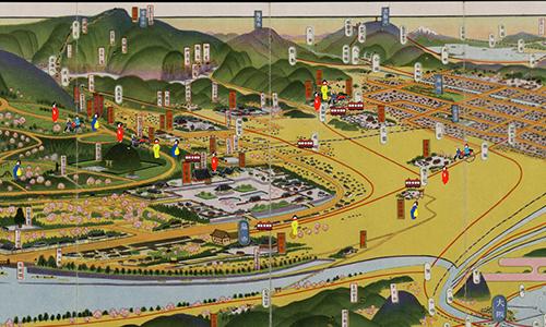 嵐電沿線観光マップ古地図